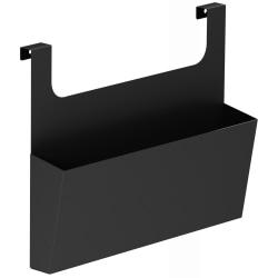 "Lorell Chester Cabinet Hanging Side Bin - 15"" Width x 5.8"" Depth x 2.5"" Height - Metal - Black"