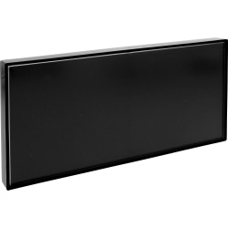 "Lorell Snap Plate Architectural Sign - 1 Each - 8"" Width x 4"" Height - Rectangular Shape - Easy Readability, Injection-molded, Easy to Use - Plastic - Black"