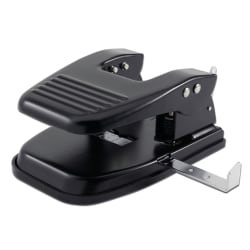 Office Depot® Brand 2-Hole Paper Punch, Black
