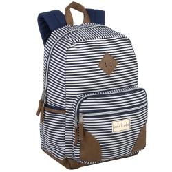 Emma & Chloe Stripe Fashion Backpack, Navy