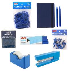 JAM Paper® Complete 9-Piece Desk Kit, Blue