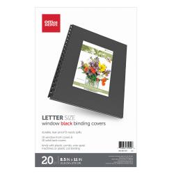 "Office Depot® Brand Designer Textured Binding Covers, 8 1/2"" x 11"", Black, Pack Of 20"