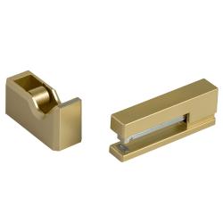 JAM Paper® 2-Piece Office And Desk Set, 1 Stapler & 1 Tape Dispenser, Gold