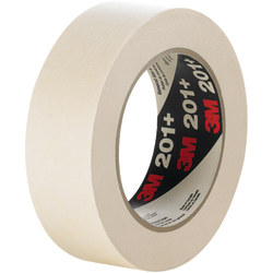 "3M™ 201+ Masking Tape, 3"" Core, 0.75"" x 180', Tan, Case Of 12"
