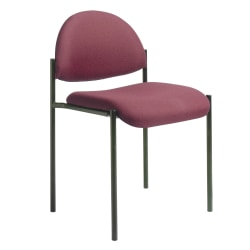 Boss Fabric Stacking Chair, Without Arms, Burgundy