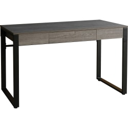 "Lorell SOHO Table Desk - 47"" x 23.5"" x 30"" - 1 - Band Edge - Material: Steel Leg, Laminate Top, Polyvinyl Chloride (PVC) Edge, Steel Base - Finish: Charcoal, Powder Coated Base"