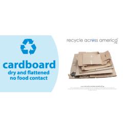"Recycle Across America Cardboard Standardized Recycling Labels, CARD-0409, 4"" x 9"", Light Blue"