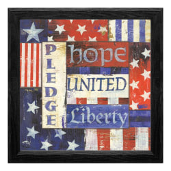 "Timeless Frames® Americana Framed Artwork, 12"" x 12"", Pledge"