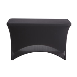 "Iceberg Fabric Table Cover, 24"" x 48"", Black"