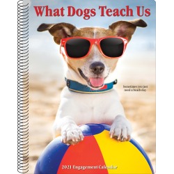 """Willow Creek Press Weekly Engagement Calendar, 8-1/2"""" x 6-1/2"""", FSC® Certified, Dogs, January To December 2021"""