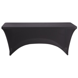 "Iceberg Fabric Table Cover, 30"" x 72"", Black"
