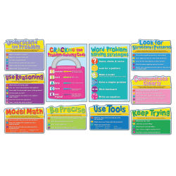 Carson-Dellosa Bulletin Board Set, Math Strategies, Pack Of 10 Pieces
