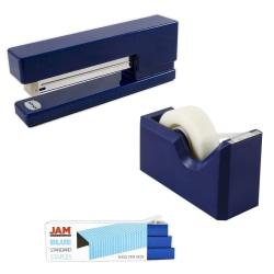 JAM Paper® 3-Piece Office Organizer Set, Navy Blue/Blue