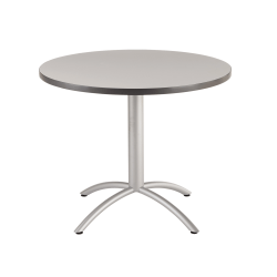 "Iceberg Cafeworks Cafe Table, Round, 42""H x 36""W, Gray/Silver"
