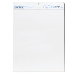 """Highland™ Easel Pads, 25"""" x 30"""", 30 Sheets, White, Pack of 6 Pads"""