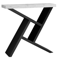 Monarch Specialties Hall Console Accent Table, Rectangular, Black/Cement