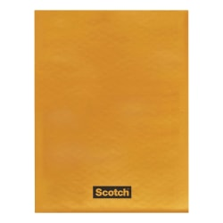 "Scotch Bubble Mailers - Bubble - #000 - 4"" Width x 8"" Length - Self-adhesive Seal - Kraft Paper - 25 / Carton - Tan"