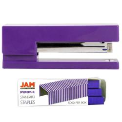 JAM Paper® 2-Piece Office Stapler Set, 1 Stapler & 1 Pack of Staples, Purple