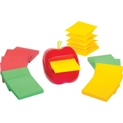 "Post-it® Pop-Up Note Apple Shaped Dispenser, 4-7/16"" x 5-5/16"" x 4-3/4"", Red"