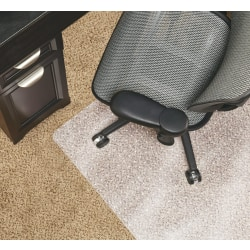 "Realspace™ Chair Mat For Medium-Pile Carpet, Rectangular, 36""W x 48""D, Clear"