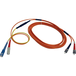 Tripp Lite 3M Fiber Optic Mode Conditioning Patch Cable SC/ST 10' 10ft 3 Meter - ST Male - SC Male - 9.84ft - Orange, Yellow
