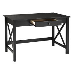 """Linon Home Decor Products Dallin 46""""W Home Office Laptop Desk, Black"""