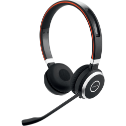 Jabra EVOLVE 65 UC Headset - Stereo - Wireless - Bluetooth - 100 ft - Over-the-head - Binaural - Supra-aural - Noise Cancelling Microphone - Noise Canceling