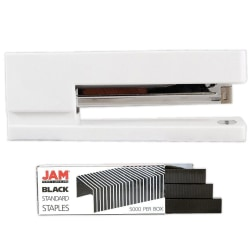 JAM Paper® 3-Piece Office Organizer Set, White/Black