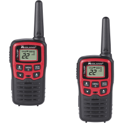 Midland X-Talker T31X3VP Walkie Talkie Three Pack - 22 Radio Channels - GMRS/FRS - Upto 137280 ft - 38 - Hands-free - Water Resistant - AAA