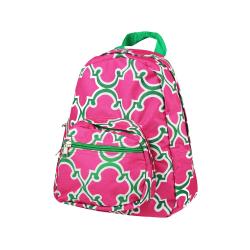 Zodaca Stylish Kids Small Backpack Outdoor School Shoulder, Pink Quatrefoil