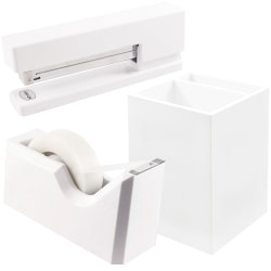 JAM Paper® Trio Desk Set, White
