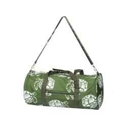 Zodaca Classic Style Duffel Travel Bag, Green Turtle