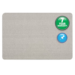 "Quartet® Unframed Bulletin Board, 36"" x 24"", Gray"