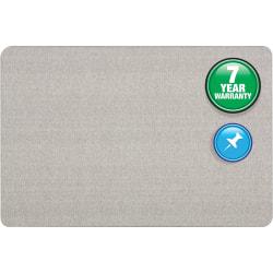 "Quartet® Oval Office Fabric Bulletin Board, 36"" x 48"", Gray"