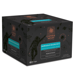 Copper Moon Coffee Single-Serve K-Cup®, Hawaiian Hazelnut, 14.1 Oz, Carton Of 40
