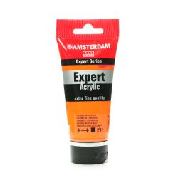 Amsterdam Expert Acrylic Paint Tubes, 75 mL, Cadmium Orange, Pack Of 2