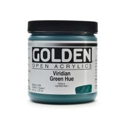 Golden OPEN Acrylic Paint, 8 Oz Jar, Viridian Green Hue