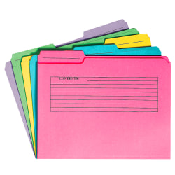 Pendaflex® Folders With Two-Ply Tab And Printed Form, Assorted Colors, Pack Of 24