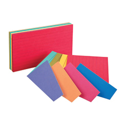"""Oxford® Ruled Extreme Index Cards, 3"""" x 5"""", Assorted, Pack Of 100"""