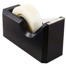 "JAM Paper® Plastic Tape Dispenser, 4-1/2""H x 2-1/2""W x 1-3/4""D, Black"