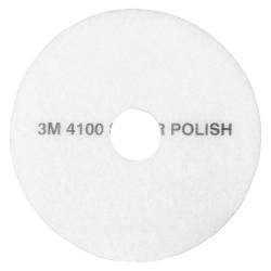 """3M™ 4100 Super Polishing Floor Pads, 19"""" Diameter, White, Case Of 5"""