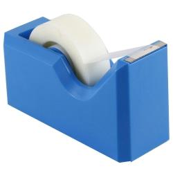 "JAM Paper® Plastic Tape Dispenser, 4-1/2""H x 2-1/2""W x 1-3/4""D, Blue"