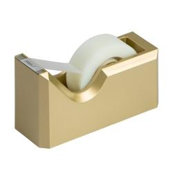 "JAM Paper® Plastic Tape Dispenser, 4-1/2""H x 2-1/2""W x 1-3/4""D, Gold"