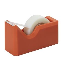 """JAM Paper® Plastic Tape Dispenser, 4-1/2""""H x 2-1/2""""W x 1-3/4""""D, Orange"""