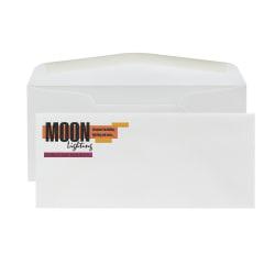 "Custom #10 Full Color Raised Print Stationery Envelopes With Moisture/Gum-Seal, 4-1/8"" x 9-1/2"", Bright White Woven, Box Of 250 Envelopes"