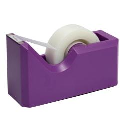 "JAM Paper® Plastic Tape Dispenser, 4-1/2""H x 2-1/2""W x 1-3/4""D, Purple"