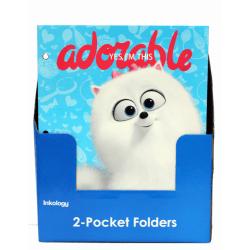"Inkology 2-Pocket Portfolios, The Secret Life Of Pets, 9-1/2"" x 11-3/4"", Assorted Designs, Pack Of 24 Folders"