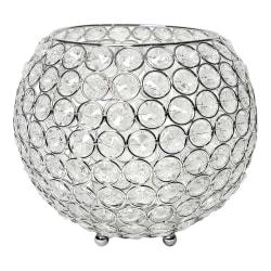 "Elegant Designs Elipse Crystal Bowl, 6-3/4"" x 8"", Chrome"