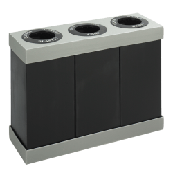 Safco® 3-Bin Recycling Center