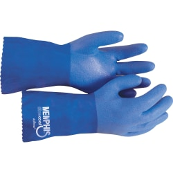 R3® Safety Blue Coat Seamless Gloves, Blue